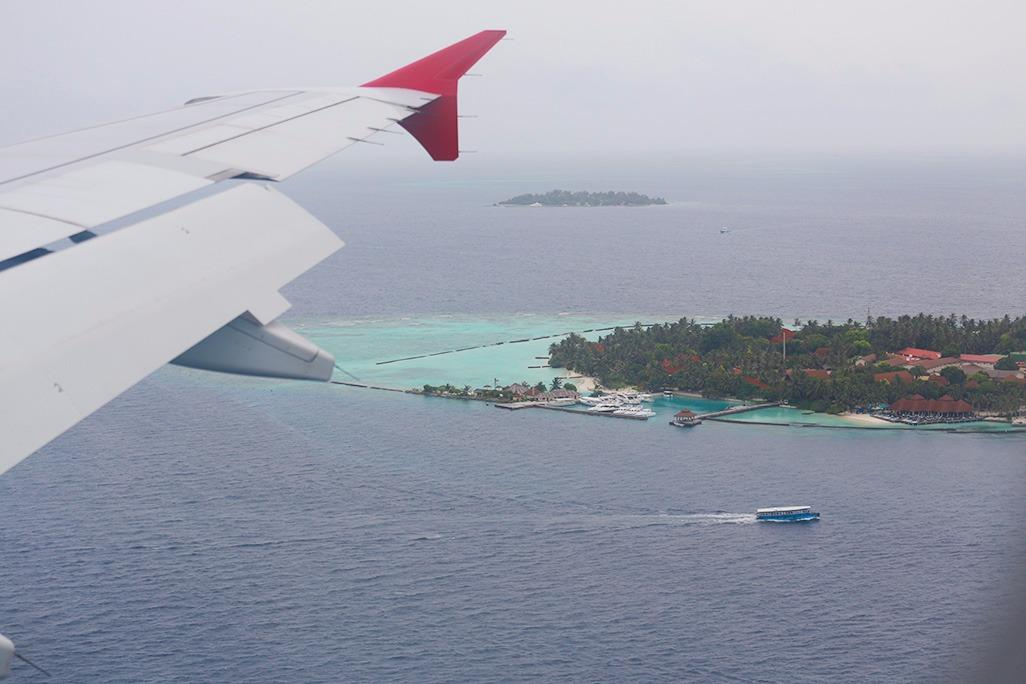 Landing to Maldives