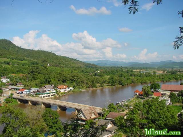 ริมแม่น้ำกก ถ่ายจากวัดท่าตอน