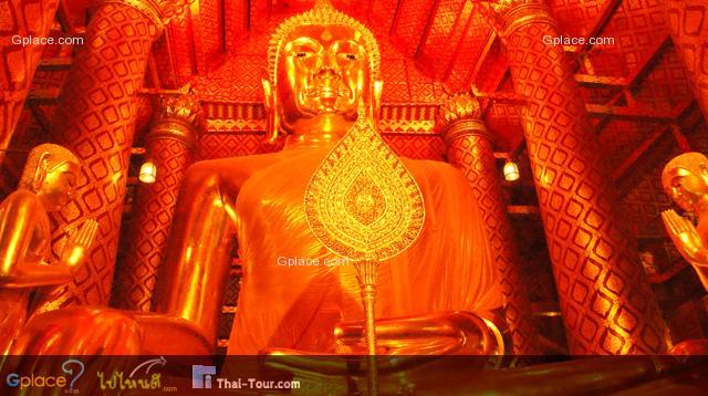 ตามพระศาวดารกล่าวว่า พระพุทธรูปองค์นี้สร้างขึ้นเมื่อปี พ.ศ. 1867 ก่อนที่พระเจ้าอู่ทองจะสร้างกรุงศรีอยุธยา เป็นราชธานี 26 ปี ตอนสมัยกรุงศรีอยุธยาเป็นราชธานี พระมหากษัตริย์แห่งกรุงศรีอยุธยาได้บูรณะซ่อมแซมให้อยู่ใน สภาพดีมาโดยตลอด กล่าวกันว่าเมื่อคราวจะเสียกรุงศรีอยุธยาได้ปรากฎมีน้ำพระเนตรไหลออกมาจาก พระเนตรทั้งสองข้างเป็นที่อัศจรรย์