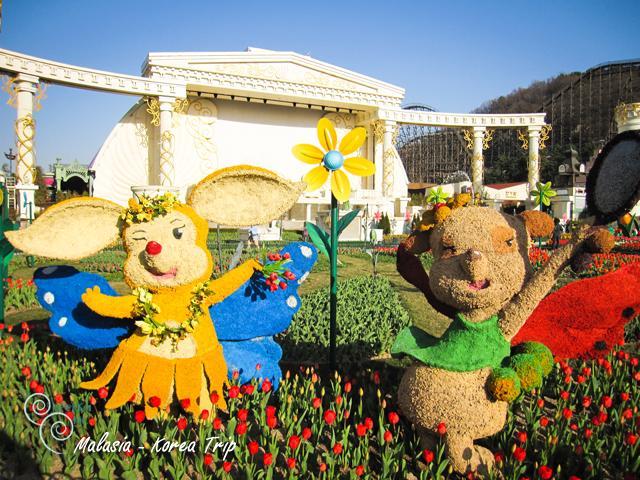 ฉากของเทศกาลดอกทิวลิปอลังการมาก