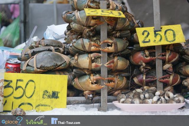 อาหารทะเล...มากมายสดๆ ปูเป็นๆ