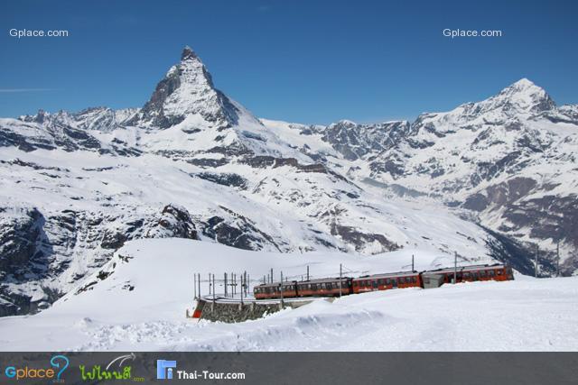 ผมเฝ้ารอจังหวะนี้ตั้งนาน...รถไฟ เทือกเขามัทเทอร์ฮอน บนทางหิมะ
