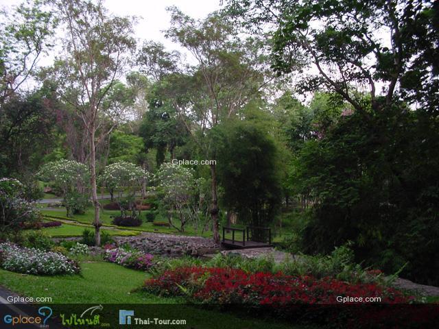 สวนไม้ดอกในพระตำหนักฯ