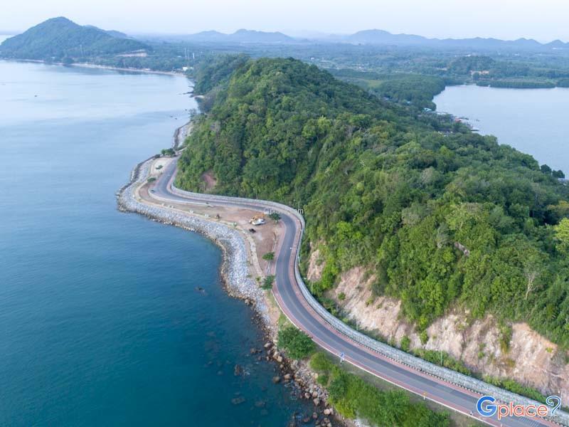 แลนด์มาร์คท่องเที่ยว ภาคตะวันออก ทะเลไทย มุมสูง
