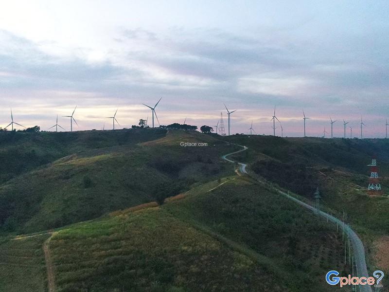 Mountain wind farm
