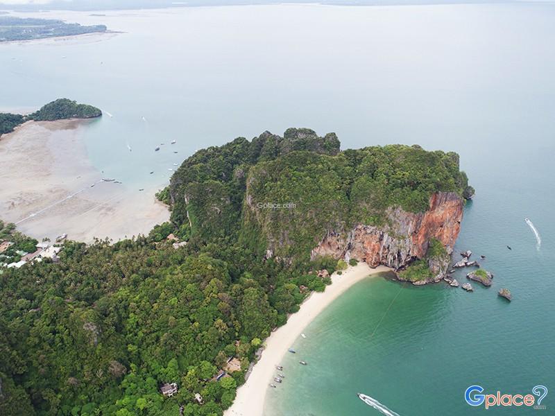 美丽海滩 清水 在甲米