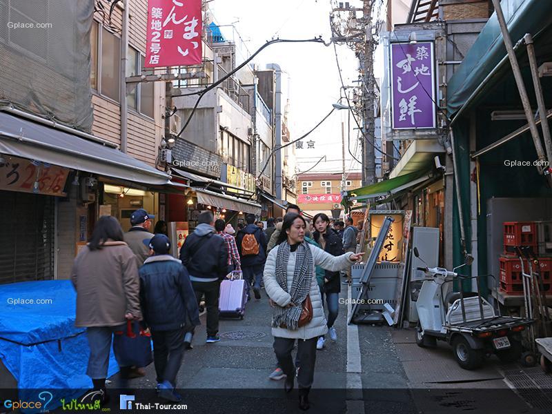 ตลาดปลาด้านใน Uogashi Yokosho