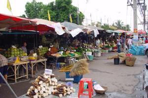 ตลาดผลไม้หนองชะอม
